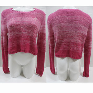 Hollister sweater Small ombre cropped knit